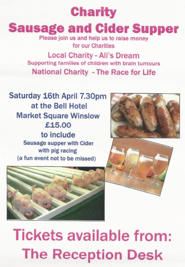 The Bell Hotel - Winslow - Sausage and Cider Supper